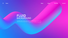 Trendy Summer 3D Flow Shapes Gradient Background, Colorful Abstract Fluid 3d Tubes. Futuristic Design Wallpaper For Banner, Poster, Cover, Flyer, Presentation, Advertising, Landing Page