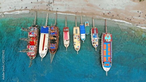 Photo Boats in the sea, top view