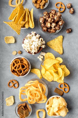 Unhealthy Snacks Fototapeta