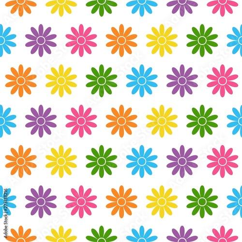Valokuva  Seamless floral pattern