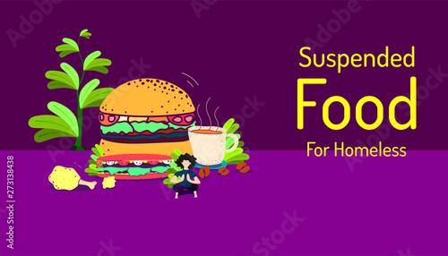 suspended food for homeless Wallpaper Mural