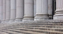 Stone Pillars Row And Stairs D...