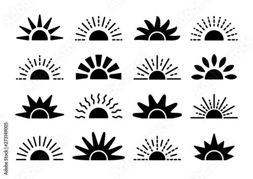 Fotomural Sunrise & sunset symbol collection