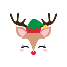 Cute Christmas Red Nose Reinde...