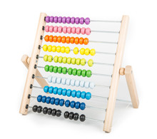 Abacus Counting Frame Isolated On White