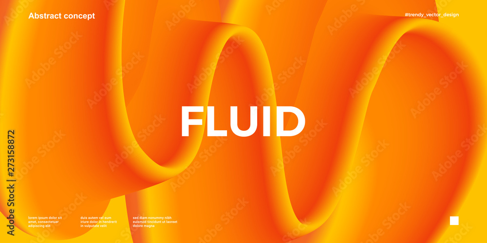 Fototapeta Trendy design template with fluid and liquid shapes. Abstract gradient backgrounds. Applicable for covers, websites, flyers, presentations, banners.
