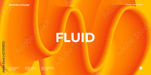 Fotografiet Trendy design template with fluid and liquid shapes