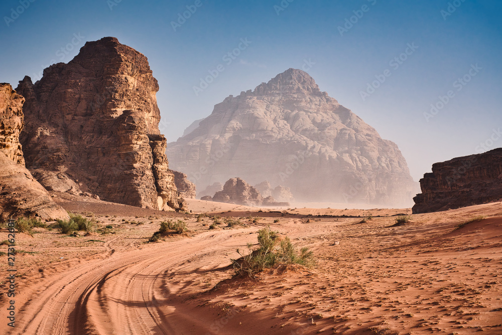 Fototapety, obrazy: Wadi Rum and Golden Sand