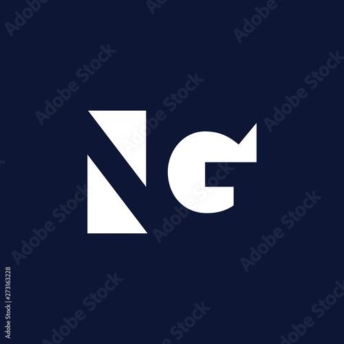Initials Ng Negative Space Logo Design Inspiration Kaufen Sie