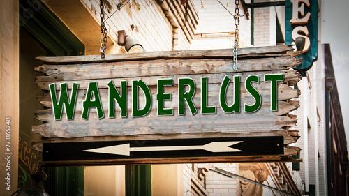 Photo Street Sign to Wanderlust