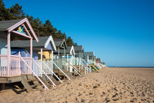 Side View Of Beach Huts In Nor...