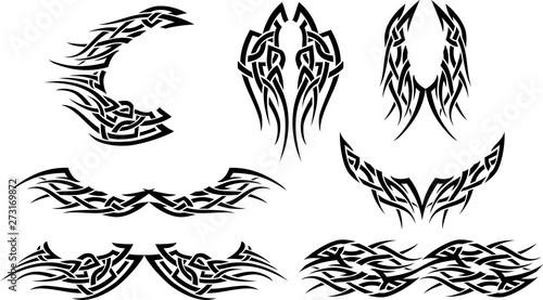 Photo Tattoo Tribal Style Abstract Bundle