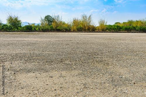 Fotografie, Obraz The vast soil courtyard