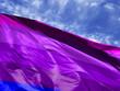 Leinwanddruck Bild - waving flag of Alternative Transgender pride close up against blue sky