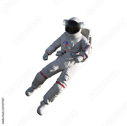 Astronaut isolated on white background. Floating Wallpaper Mural