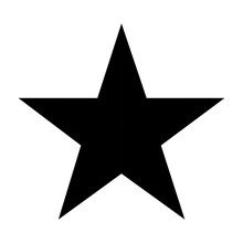 Black Five Points Star On Whit...