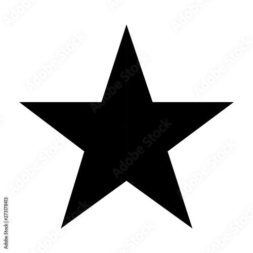 Obraz black five points star on white background - fototapety do salonu