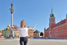 Girl At Castle Square In Warsaw, Poland