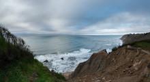 Panorama Of Block Island Coast...