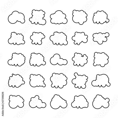 Fototapeta cloud scapes and cloud bubble icons obraz na płótnie