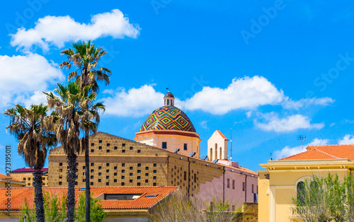 dome of the church of san michele in alghero Canvas Print