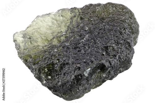 Fotografia, Obraz  moldavite from Czech Republic isolated on white background