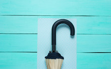 Umbrella Hook On Blue Backgrou...