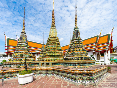 Wat Pho - the Temple of the Reclining Buddha - or Wat Phra Chetuphon, is a Buddhist Temple in the central district of Bangkok, Thailand
