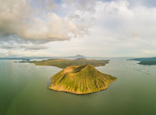Aerial View Of Taal Volcano In...