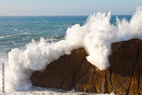 Fototapety, obrazy: Arnia coast, Liencres, Cantabria province,Cantabrian Sea, Spain, Europe