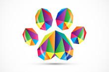 Footprint Paw Dog Logo