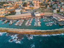 Aerial View Of Jaffa Harbour I...