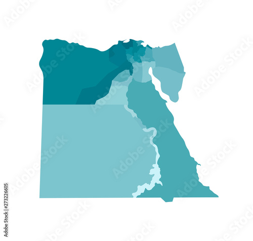 Canvas Print Vector isolated illustration of simplified administrative map of Egypt