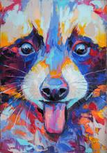 Oil Raccoon Portrait Painting ...