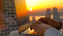 CLOSE UP Morning Sun Rays Shin...