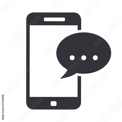 Valokuva  Smartphone phone message icon symbol vector illustration