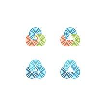 Circles Trinity Line Art Logo ...