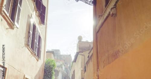 Pinturas sobre lienzo  Old street in Rome, Italy
