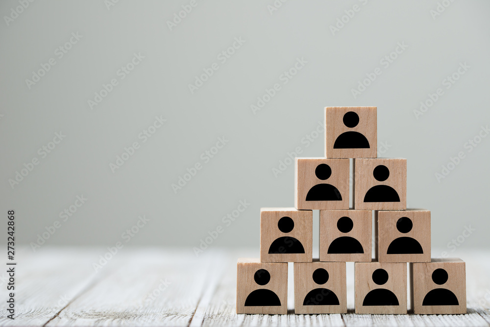 Fototapety, obrazy: People profile icon in pyramid shape for an organization and business concept mock up