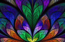 Multicolor Beautiful Tree Foliage. Computer Generated Graphics