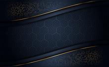 Luxurious Dark Background With Gold Glitter