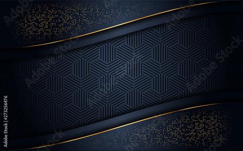 luxurious dark background with gold glitter Canvas-taulu