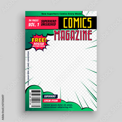 comic book cover page design - 273262617