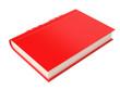Leinwanddruck Bild - Red book. 3d rendering illustration isolated