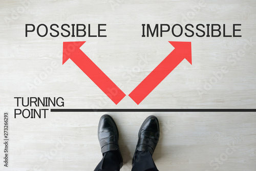 ビジネスイメージ―可能か不可能か Wallpaper Mural