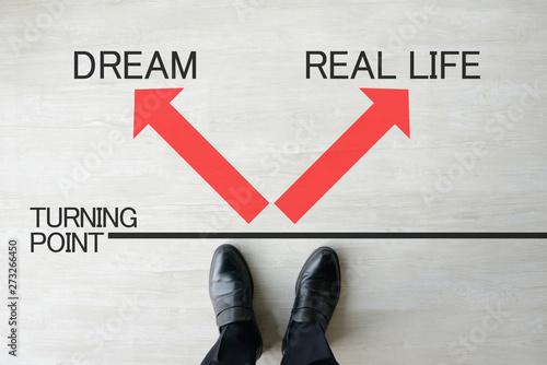 ビジネスイメージ―夢か現実か Wallpaper Mural