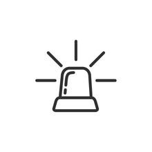 Siren Line Icon Vector, Outline Icon Style. Siren Logo Design Illustration