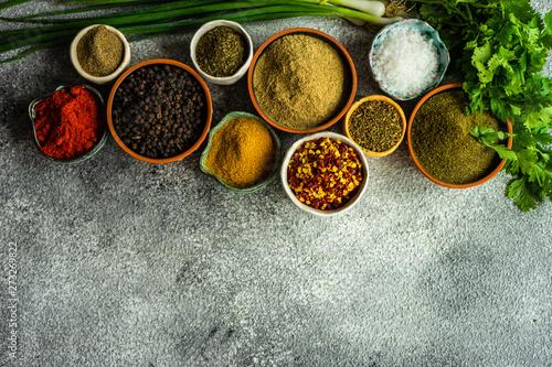 Printed kitchen splashbacks Spices Traditional georgian spices frame