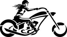 Woman Chopper Rider, Side View