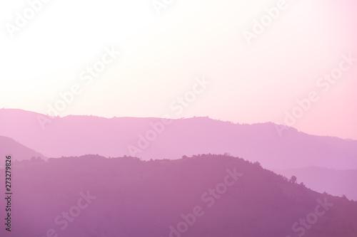 Foto auf AluDibond Rosa hell ultra violet purple summer landscape